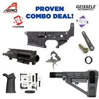 AR15 Stripped Lower Receiver, Special Edition: PEW Pistol Build Combo