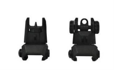 ATI TACTICAL FLIP UP FRONT AND REAR BACK UP SIGHTS SET POLYMER