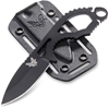 Benchmade - Follow-Up 101 Knife, Drop-Point Blade, Plain Edge, Coated Finish, Black Handle