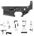 (COMBO) AR15 Stripped Lower Receiver, Special Edition: PEW - Anodized Black With Parts Kit
