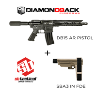 DB15 PISTOL & SB Tactical SBA3 FDE Combo Diamondback Firearms DB15 Pistol with SBA 3 FDE Combo