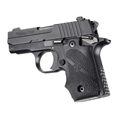 Sig Sauer P238 Rubber Grip With Finger Grooves Black