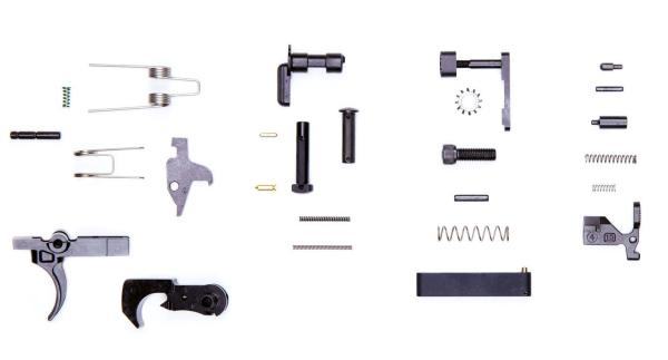 Lower Parts Kit Minus Pistol Grip Black Hammer and Trigger anderson manufacturering, anderson firearms, anderson ar49