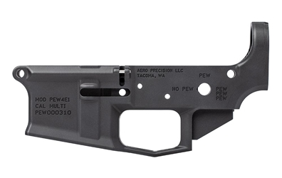 M4E1 Stripped Lower Receiver, Special Edition: PEW - Anodized Black