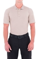 Mens Performance Short Sleeve Polo - Khaki