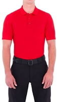 Mens Performance Short Sleeve Polo - Red