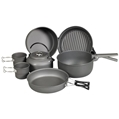 9 Piece Cookware Mess Kit W/Kettle
