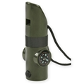 7-In-1 Survival Whistle, Olive