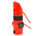 7-In-1 Survival Whistle, Orange