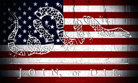 Join or Die Sticker