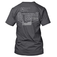 T-Shirt - Periodic Table of Explosives, Grey
