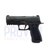 SIG P320 Pro Carry, X-Ray Sights, 9mm P320, 9mm, 3.9In, Professional, Blk, Striker, X-Ray 3, Mod Poly X Grip, (3) 17Rd Steel Mag, Optic Ready, Rail, P320 Pro Series, Sig Military Discount, Sig Law Enforcement Discount