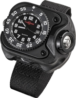 WRISTLIGHT WITH SUREFIRE WATCH MOVEMENT, RECHARGEABLE  LIPO, 15/60/300 LUMENS, NYLON WRIST STRAP, BLACK POLYMER HOUSING