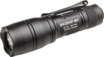 E1B WITH 14MM MAX VISION REFLECTOR, 3 VOLT, DUAL OUTPUT, 400/5 LUMENS, ALUM, BLACK TYPE III, CLICK SWITCH