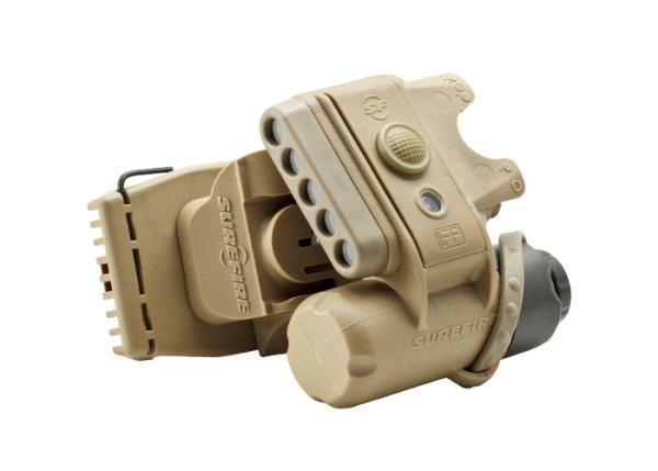 HELMET LIGHT,  3V, 1.4 -19.2 LU, IR/WH/IR LEDS, TAN
