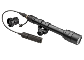 SCOUT LIGHT, 3V, TWO AA, M75 THUMB SCREW MOUNT, 200 LUMENS, BLACK, Z68 CLICK ON/OFF TAILCAP & UE07 TAPE SWITCH
