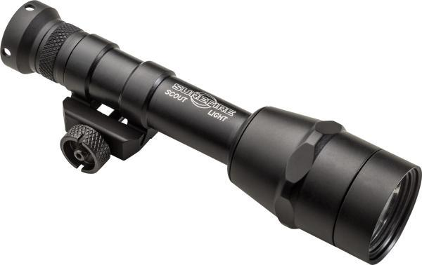 SCOUT LIGHT WITH INTELLIBEAM TECHNOLOGY, 6V. AUTOMATICALLY ADJUSTS 100 TO 600 LUMENS, M75 THUMB SCREW MOUNT, BLACK, INCLUDES Z68 CLICK ON/OFF TAILCAP