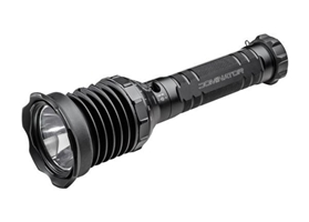 UDR DOMINATOR RECHARGEABLE, 8 VOLT, VARIABLE OUTPUT 10 - 2,400 LUMENS, DUAL FUEL, ALUM BLACK TYPE III ANO, SELECTOR RING, BEZEL SWITCH