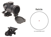 MRO Patrol 2.0 MOA Adjustable Red Dot w/ 1/3 Co-Witness Quick Release Mount