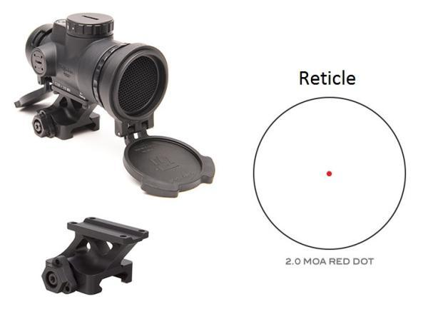 MRO Patrol 2.0 MOA Adjustable Red Dot w/ Full Co-Witness Quick Release Mount