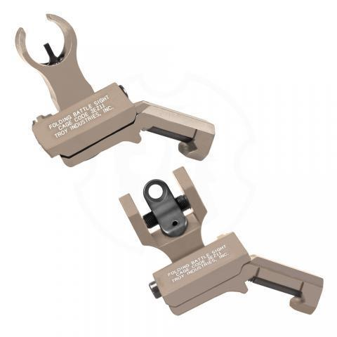 Offset Sight Set, HK Front and Round Rear, FDE