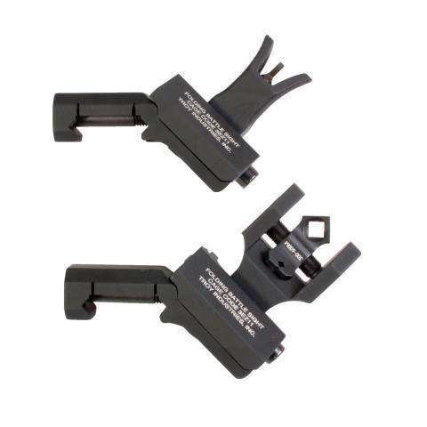 Offset Sight Set, M4 Front and Dioptic Rear, Black