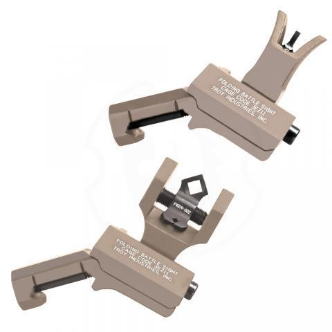 Offset Sight Set, M4 Front and Dioptic Rear, FDE