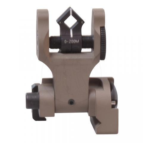 Dioptic Folding Sight, Tritium FDE