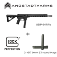 UDP-9 9mm Rifle & 2 GLOCK G17 33 round Magazines  UDP-9 9mm Rifle& 2 GLOCK G17 33 round Magazines