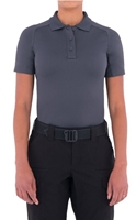 Womens Performance Short Sleeve Polo - Asphalt