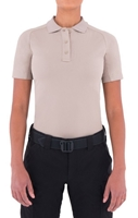 Womens Performance Short Sleeve Polo - Khaki