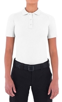 Womens Performance Short Sleeve Polo - White