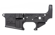 AR15 Stripped Lower Receiver, Special Edition: PEW - Anodized Black