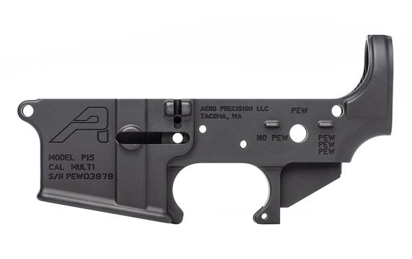 AR15 Stripped Lower Receiver, Special Edition: PEW