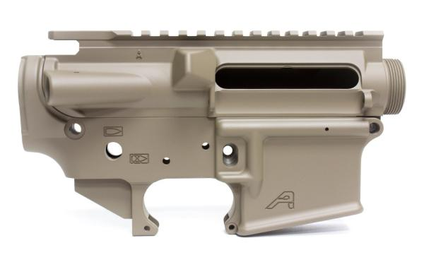AR15 Stripped Receiver Set FDE