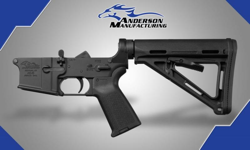 AM-15 Complete Lower, Black Magpul  Open, RF85 anderson manufacturering, anderson firearms, anderson ar30