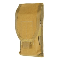 M4/M16 Staggered Mag Pouch (Holds 2) - MOLLE, Coyote Tan