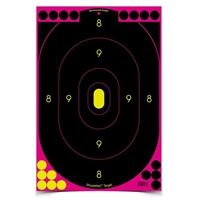Shoot-N-C 12in x 18in Oval Pink Silhouette