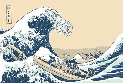 Great Wave of Coronado Poster