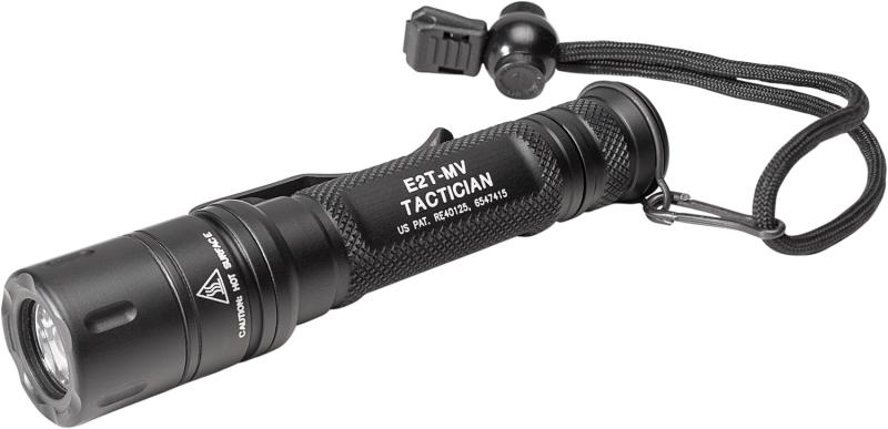 TACTICIAN, 6V, DUAL OUTPUT 800/5 LU, WH LED, ALUM BLACK TYPE III ANO, TACTICAL SWITCH