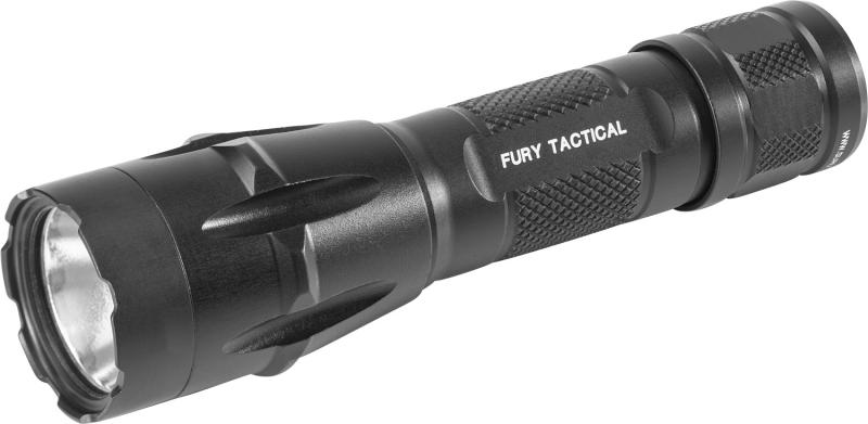 FURY DUAL FUEL TACTICAL, 6V 1500 LU, SINGLE OUTPUT, WH LED, ALUM BLACK TYPE III ANO, CLICK SWITCH